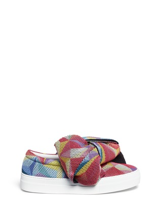 Main View - Click To Enlarge - Joshua Sanders - Twist bow mesh slip-on sneakers