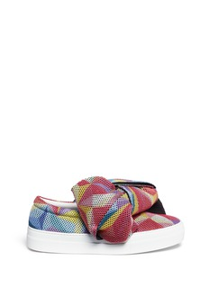 Joshua Sanders Twist bow mesh slip-on sneakers