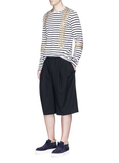 Ports 1961 Sailor embellished stripe long sleeve T-shirt