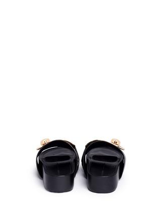 Back View - Click To Enlarge - Stella Luna - 'Stella' turnlock buckle leather platform slide sandals