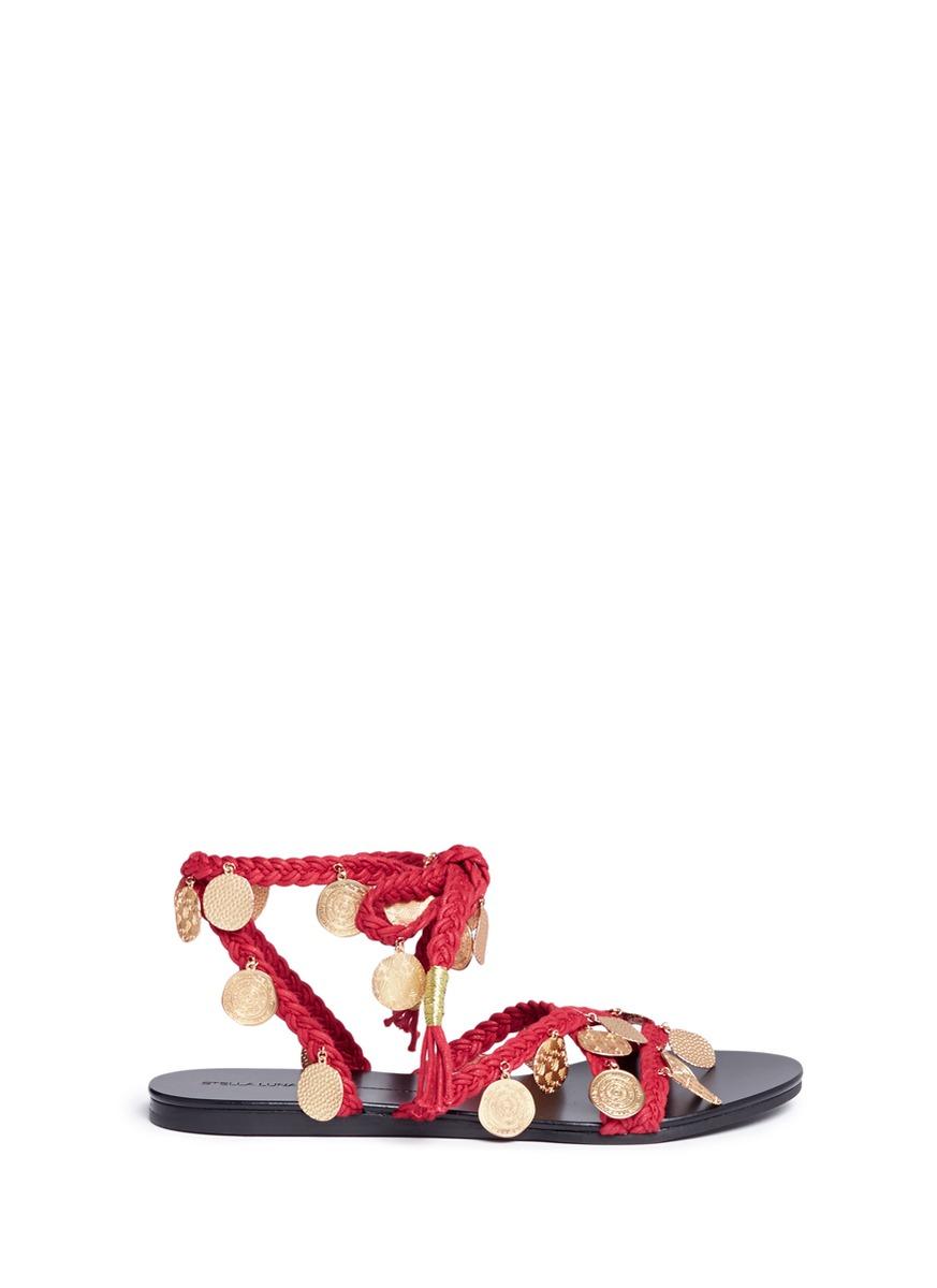 Anatolia ethnic coin braided cord sandals by Stella Luna