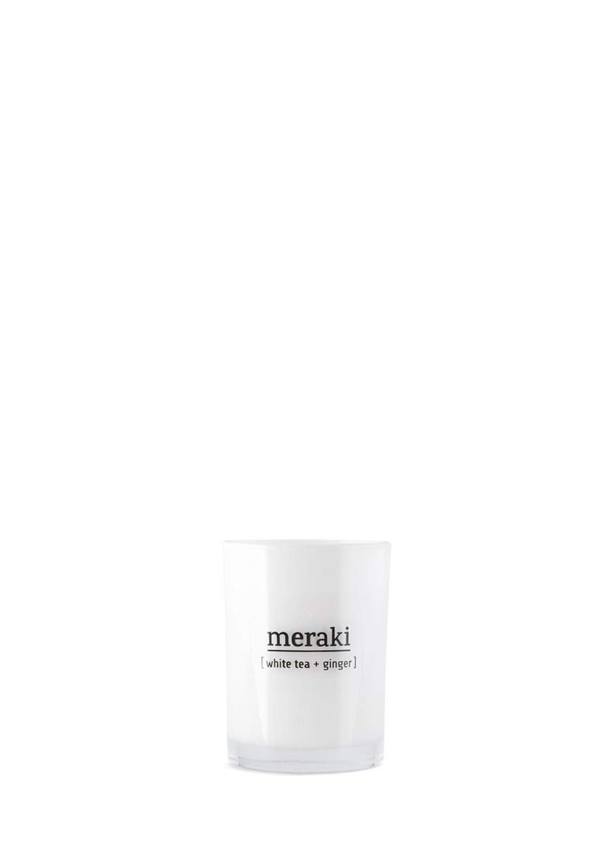 White Tea & Ginger scented candle by Meraki