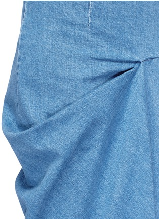 Detail View - Click To Enlarge - Stella McCartney - 'Heidi' draped side denim maxi skirt