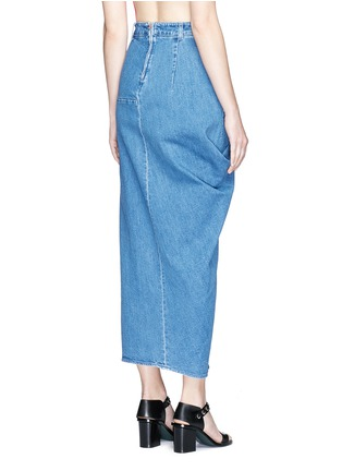 Back View - Click To Enlarge - Stella McCartney - 'Heidi' draped side denim maxi skirt