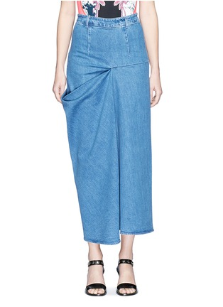 Main View - Click To Enlarge - Stella McCartney - 'Heidi' draped side denim maxi skirt