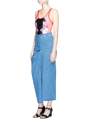 Figure View - Click To Enlarge - Stella McCartney - 'Heidi' draped side denim maxi skirt
