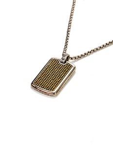John Hardy Silver and 18k gold jawan dog tag necklace