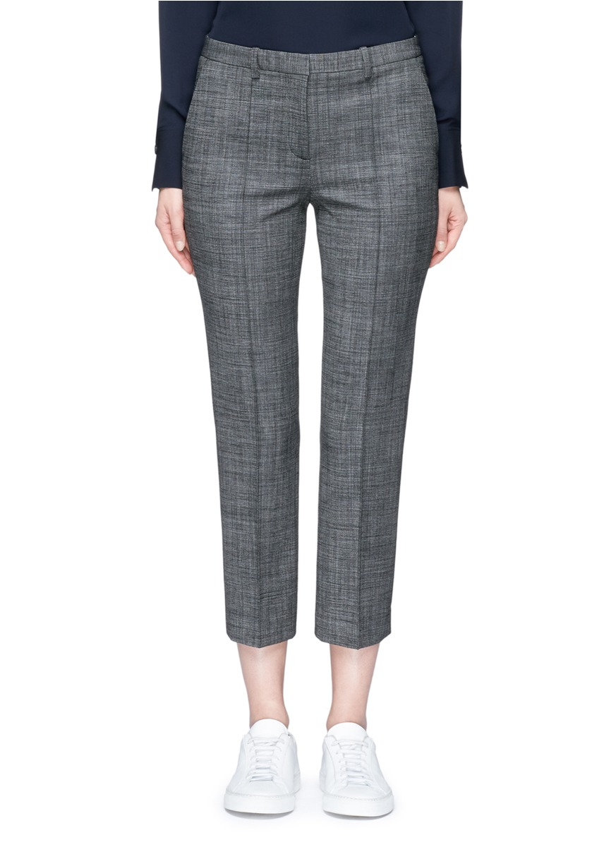 Hartsdale virgin wool cropped tailored pants by Theory