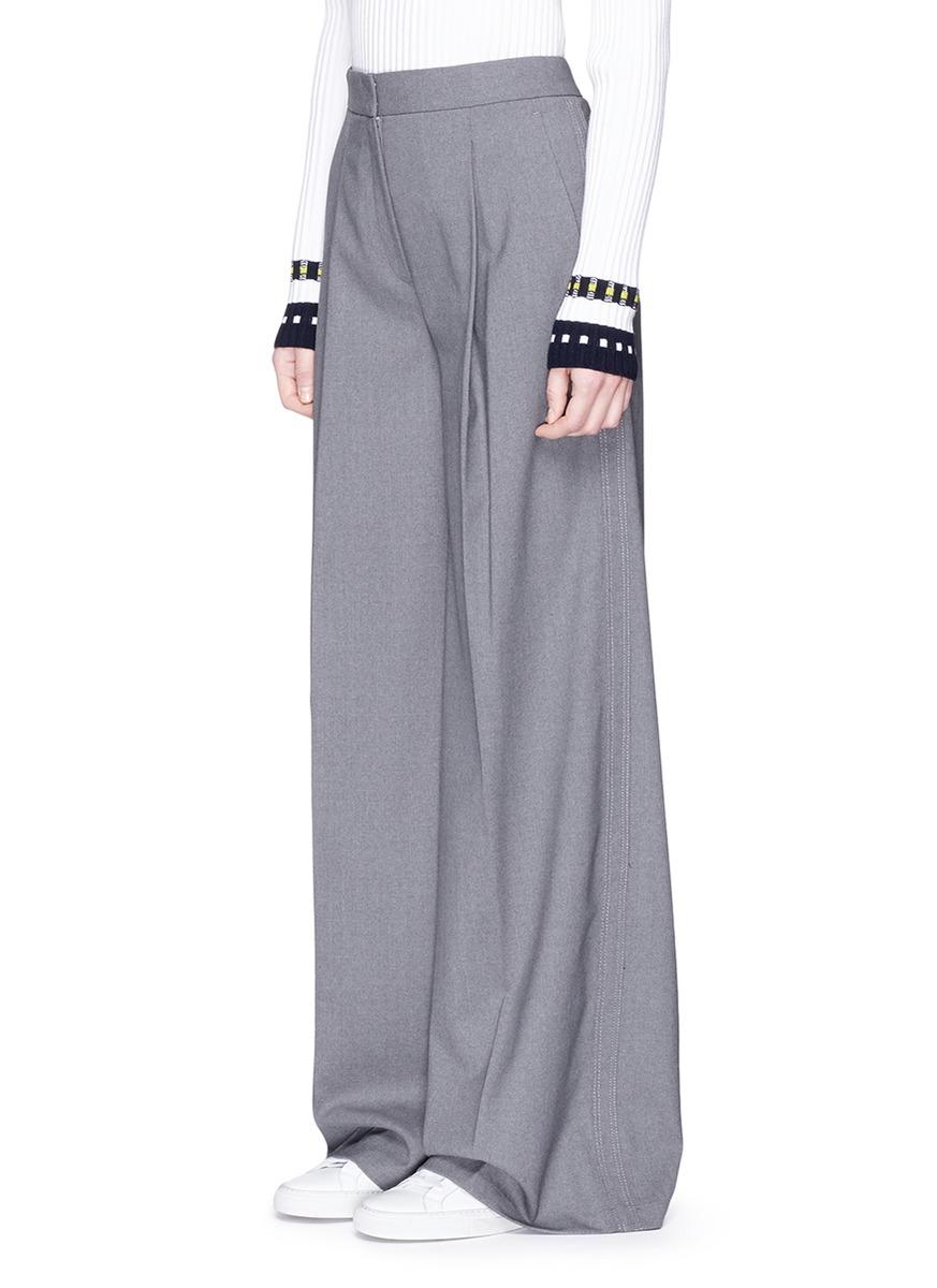 THEORY 'Bayport Ts' Virgin Wool Wide Leg Pants