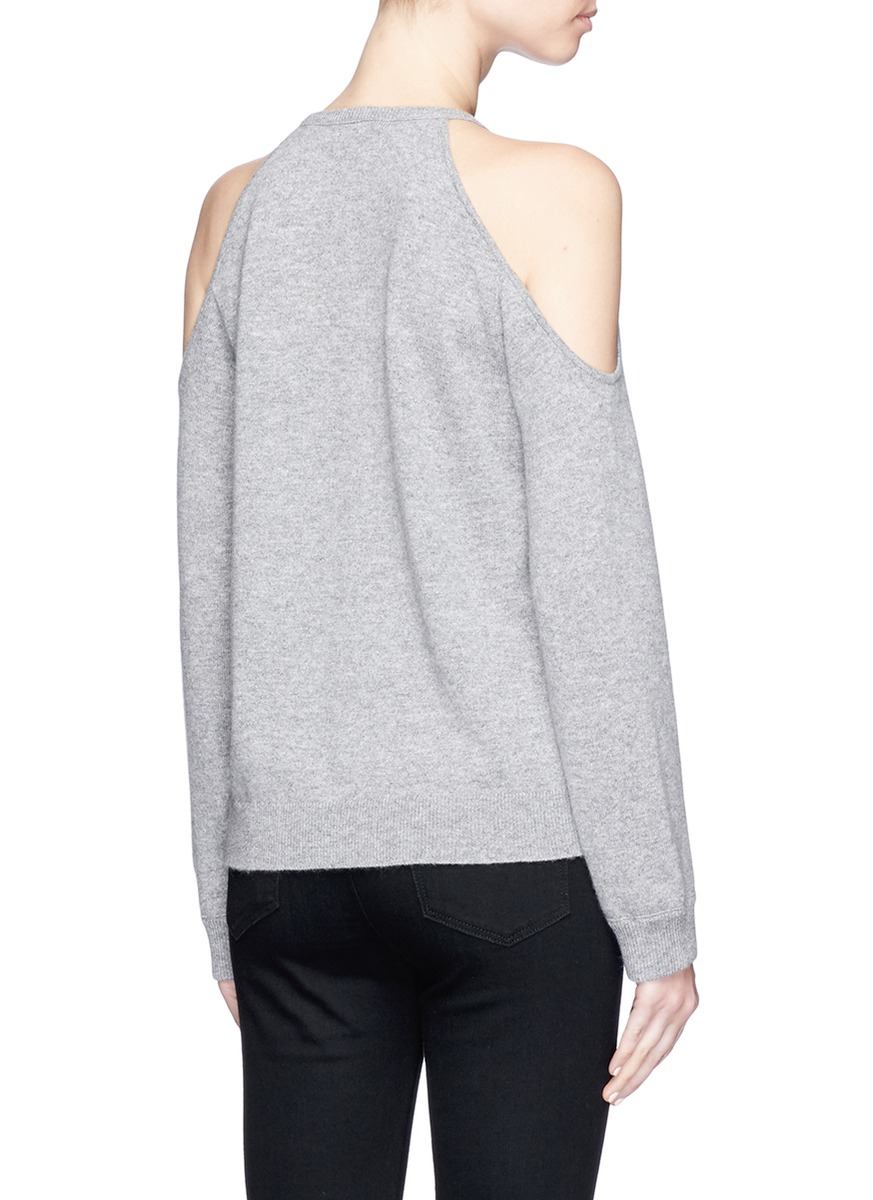 THEORY 'Toleema B' Cold Shoulder Cashmere Sweater