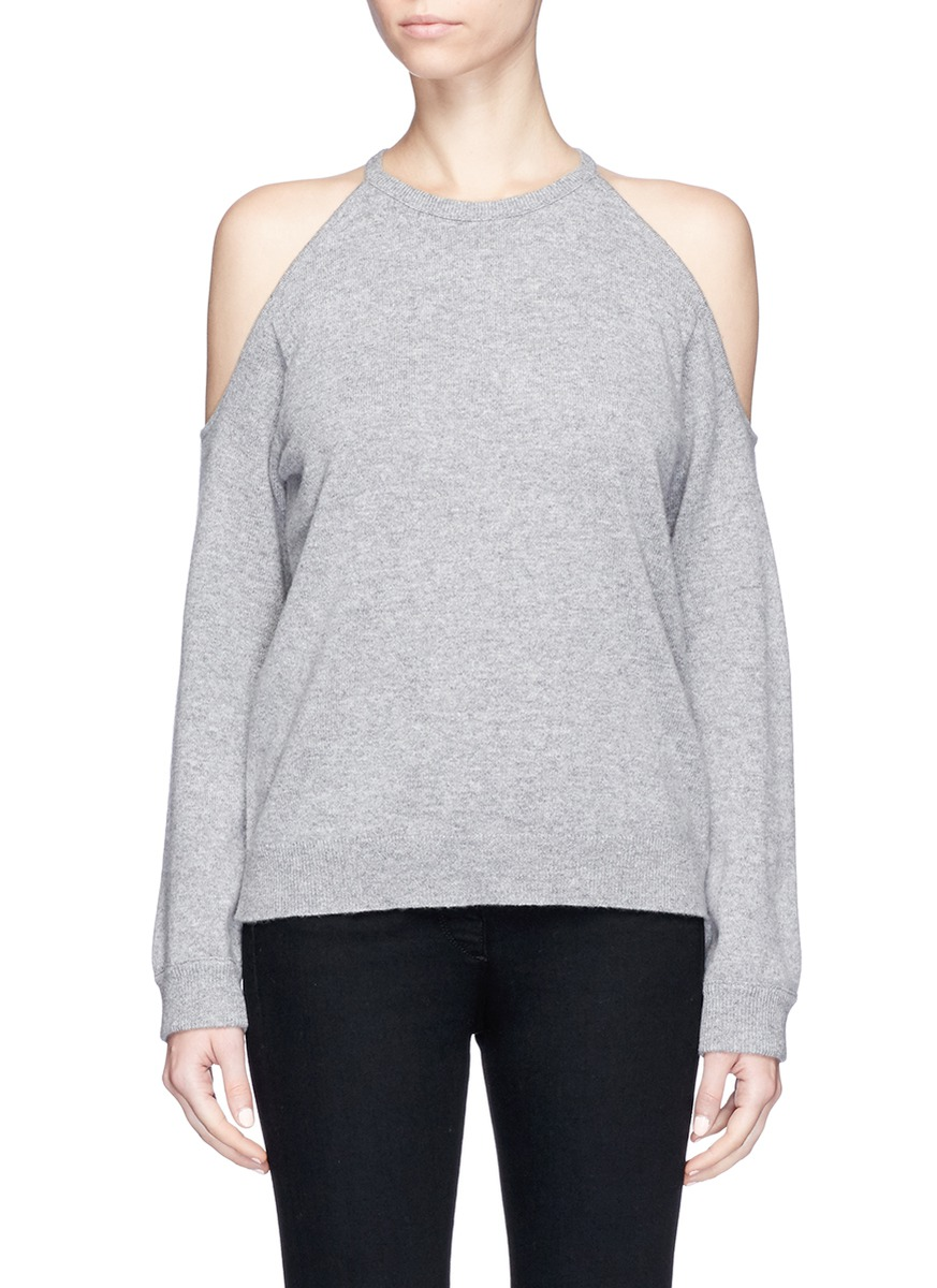Toleema B cold shoulder cashmere sweater by Theory