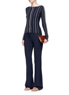 Theory'Hankson' stripe rib knit sweater