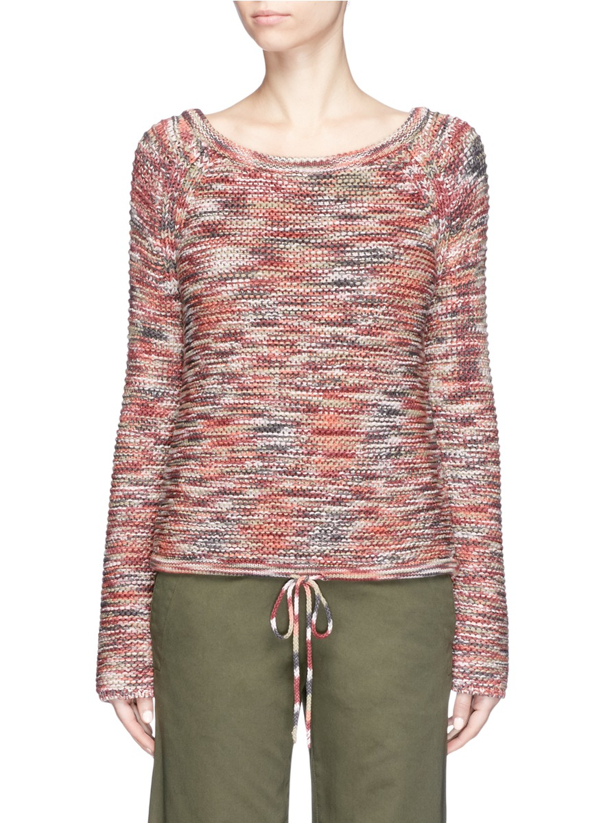Coella drawstring waist space dyed sweater by Theory