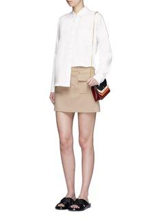 Theory'Lourah' oversized stretch poplin shirt