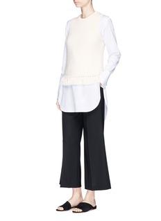 Theory'Meenara' tassel hem sleeveless knit top