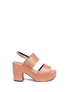 Robert Clergerie'Emple' leather platform slingback sandals