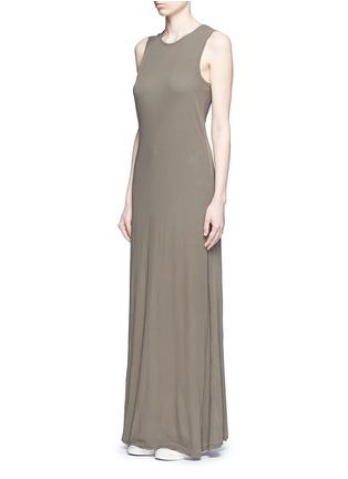Front View - Click To Enlarge - James Perse - Layered cotton maxi dress