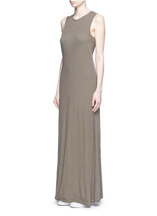 James Perse-Layered cotton maxi dress