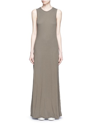 Main View - Click To Enlarge - James Perse - Layered cotton maxi dress