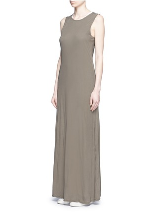Figure View - Click To Enlarge - James Perse - Layered cotton maxi dress