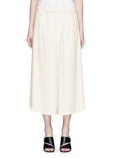 HELMUT LANGElastic waist crepe culottes