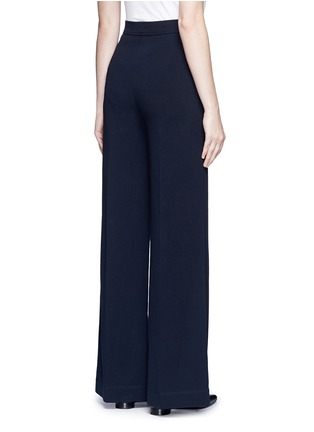 Back View - Click To Enlarge - Helmut Lang - Cotton wide leg pants