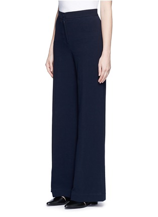 Front View - Click To Enlarge - Helmut Lang - Cotton wide leg pants