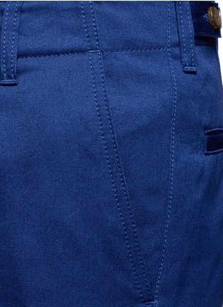 Detail View - Click To Enlarge - Gucci - Contrast trim rolled cuff cotton chinos