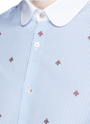 Detail View - Click To Enlarge - Gucci - Bee jacquard stripe shirt