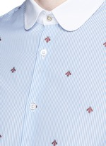 Bee jacquard stripe shirt