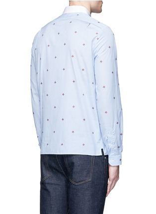 Back View - Click To Enlarge - Gucci - Bee jacquard stripe shirt