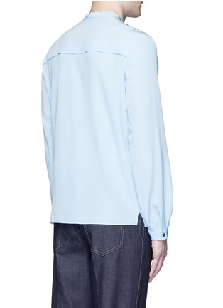 Back View - Click To Enlarge - Gucci - Neck sash silk crepe shirt
