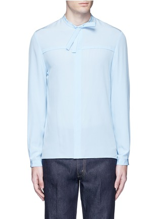 Main View - Click To Enlarge - Gucci - Neck sash silk crepe shirt