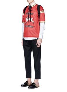 GucciRabbit patch mesh jersey tank top