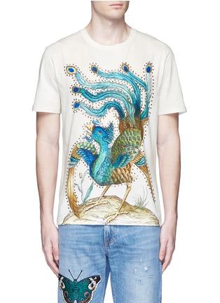 Main View - Click To Enlarge - Gucci - Paradise bird print cotton T-shirt