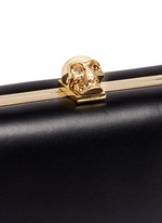 Skull leather handle box clutch