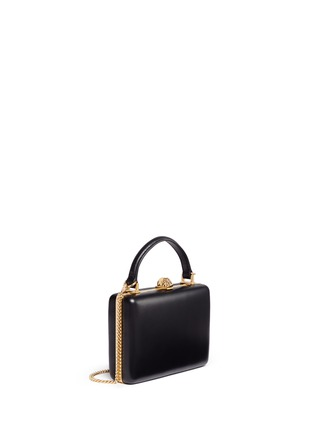 Figure View - Click To Enlarge - Alexander McQueen - Skull leather handle box clutch