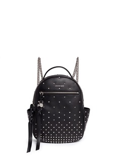 Alexander McQueen Small stud chain leather backpack