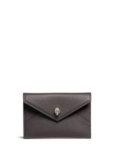 Alexander McQueenSkull leather envelope card holder