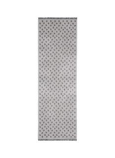 ALEXANDER MCQUEENSkull jacquard wool-silk scarf