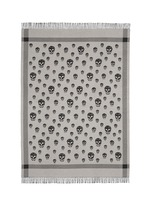 Skull jacquard wool-cashmere blanket