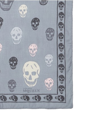 Detail View - Click To Enlarge - Alexander McQueen - Classic skull print silk chiffon scarf