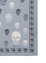Classic skull print silk chiffon scarf