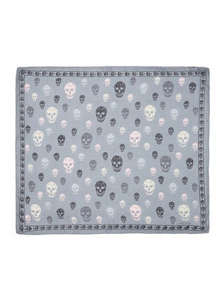 Main View - Click To Enlarge - Alexander McQueen - Classic skull print silk chiffon scarf