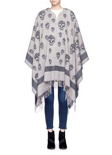 ALEXANDER MCQUEENSkull wool-cashmere knit cape