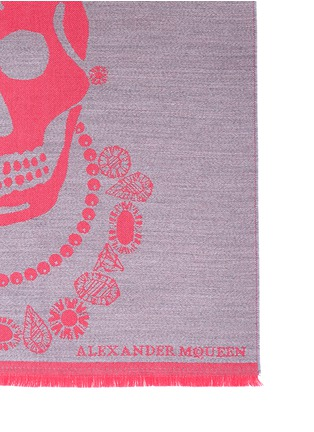 Detail View - Click To Enlarge - Alexander McQueen - King and queen skull jacquard scarf