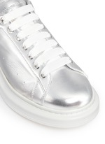 'Larry' metallic leather sneakers