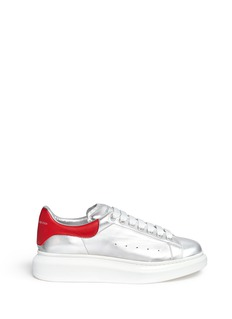 Alexander McQueen 'Larry' metallic leather sneakers