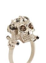 Star dust royal skull ring