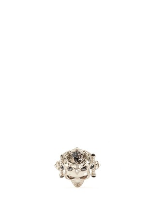 Figure View - Click To Enlarge - Alexander McQueen - Star dust royal skull ring